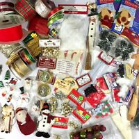 Huge Giant Lot of Christmas Craft Crafting Items Must See Over 5 Pounds Most New