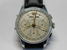 Mens Stainless Doxa Triple Date Chronograph Wristwatch Valjoux 72C Movement