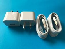 2 x 10W 2.1A Wall USB Charger & Cable for iPad 2 3 iPhone 4 4S 5 iPod Nano