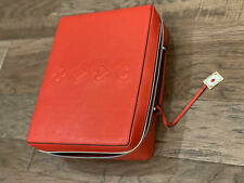 New ESTEE LAUDER Makeup Cosmetic Bag TRAIN CASE Faux Leather RED 2019 Edition