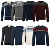 Crosshatch New Men's Jumpers Crew Neck Style Knitted Sweater Pullover Knit Tops