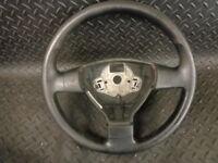 2007 VW POLO 1.4 TDI 3DR LEATHER STEERING WHEEL 6Q0419091T1QB