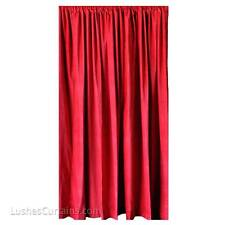 Red Velvet Curtain 13' H Panels Home Movie Theater Wall Decor Sound Proof Fabric