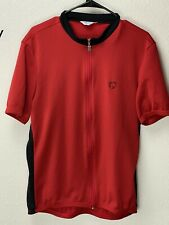 VTG Pearl Izumi Full Zip Long Sleeve Red Cycling Jersey Size Men's XL USA Made