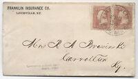 Circa 1862 Louisville & Cincinnati mail Line Steamboat route agent cover 2x rate