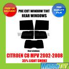 CITROEN C8 MPV 2002-2008 35% LIGHT REAR PRE CUT WINDOW TINT