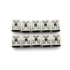 10Pcs Mini USB Female 5 Pin Type B Right Angle PCB Socket Connector 2 Legs cb
