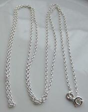 "STERL SILVER BELCHER STYLE CHAIN 76cm / 30"" MADE IN UK by WJS BIRMINGHAM NEW QVC"