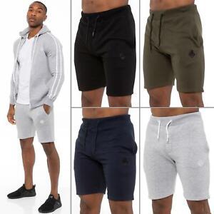 Enzo Mens Shorts Gym Elasticated Waist Jogging Fleece Running Plain Sweat S -XXL