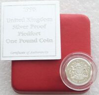 1998 Royal Mint Royal Arms Piedfort £1 One Pound Silver Proof Coin Box Coa