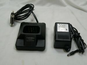 MOTOROLA P1225 HLN9359A HT Radio PROGRAMMING Cradle Stand w/Power Supply