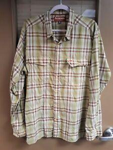 Simms Fishing Products Legend Plaid Shirt, Size XL, Unworn
