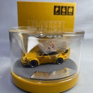 1/64 PGM Porsche 911 964 RWB Yellow with Figure diecast Full Open
