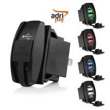 Cargador Doble 2 USB Salida De Corriente LED Accesorios Moto Barco Automático
