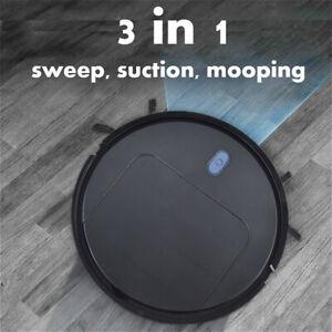 Robot Vacuum Cleaner, 3000mAh Quiet Robotic Cleaner Cleans Hard Floor to Carpet