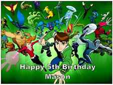 Ben 10 Personalised Wafer Paper Topper For Large Cake Various Sizes 7.5 by 10""