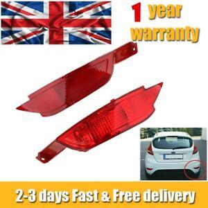 Left & Right Rear Bumper Reflector Light Fog Lamp For Ford Fiesta Mk7 VII 09-14