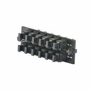 Panduit FAPH1212BLMPO Fiber Adapter Panels,  Twelve Key-up/Key-down MPO Adapters