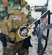 Anti-Isis Syria-Iraq Foreign Christian Fighter SSI Dwekh Nawsha + Kurdish Flag