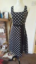 BNWOT! Gorgeous Debenhams polka dot fit & flare vintage 50s dress ~Size 8~