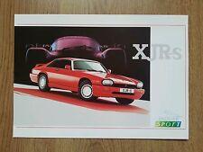 JAGUAR * XJRS * XJR-S *COUPE JAGUARSPORT JAGUAR XJS BROCHURE TWR A4 CARD LEAFLET