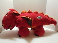 "Stoffies Plush Blaze The Dragon Red & Orange Hidden Pockets Stuffed Pillow 28"""