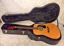 Vintage George Washburn Guitar Model D-10N with Nice Hard Case