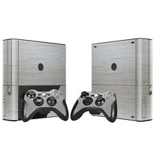 Xbox 360 E Console Skin Decal Sticker Brushed Design + 2 Controller Custom Set