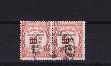 timbre France TAXE    1f   sur 60c  rouge      num: 53   oblitéré  en paire