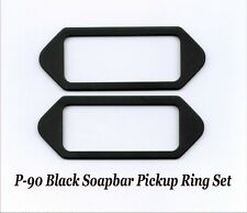 P-90 SOAPBAR Pickup Ring Cover Set Black Epiphone Gibson LP Repair Project NEW