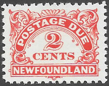 Newfoundland Scott Number J2 VF H Cat C$10