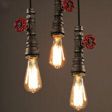 Fuloon Vintage DIY Industrie Eisen Wasser Rohr Licht Deckenleuchte Pendelleuchte