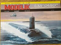 "GENUINE PAPER-CARD MODEL KIT - USS ""OHIO""  A3 Format"