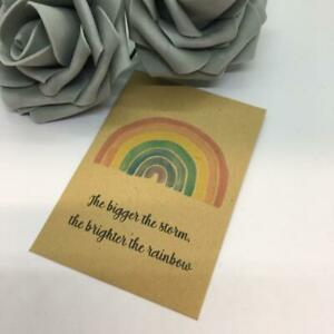 10 x Wildflower Seed Rainbow Hope Wedding Favour Envelopes Thank you Gift Christ