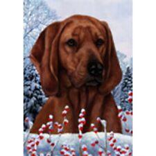 Winter House Flag - Redbone Coonhound 15404