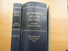 Dymond's Death Duties 1973, Text 1 and 2 + sup Oyez Fitteenth + sup'