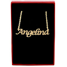 Angelina - Gold Name Necklace - Personalized Jewellery - Valentines