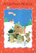 Merry Christmas - A Gift From All Of Us Winter Animals - Hallmark Greeting Card