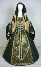 Vestido de boda Renaissance Tudor Medieval handfasting Larp Vestido de disfraz (MD-04)