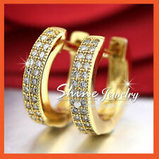 Unbranded Crystal White Gold Filled Hoop Fashion Earrings
