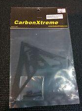 """Carbon Xtreme - CX10-02-502 Evo """"E"""" logo Carbon Fiber Fin, Hirobo Sceadu"""