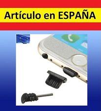 2x Tapones MICRO USB + JACK anti polvo palo proteccion NEGRO tapa auriculares B