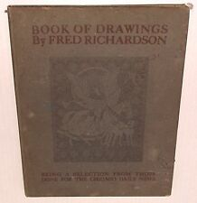 BOOK OF DRAWINGS Frederick FRED RICHARDSON 1899 CHICAGO DAILY NEWS Illustrator