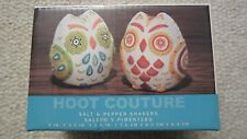 NIP- Animal World Owls Hoot Couture Salt & Pepper Shakers
