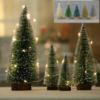 24× Tabletop Christmas Pine Tree Xmas Mini Snow Small Trees Decoration 45mm Gift