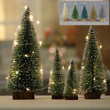 24 tabletop christmas pine tree xmas mini snow small trees decoration 45mm gift