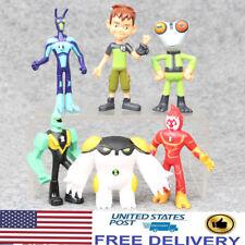 Ben 10 Grey Matter Heatblast XLR8 Diamondhead 6 PCS Action Figure Toys Kids Gift