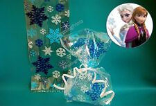 10 clear Snowflake Loot Bag Frozen Party favor gift Supply cello blue christmas