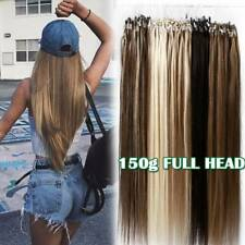 300S Thick Remy 100% Human Hair Extensions Micro Loop Nano Ring Bead Full Head R
