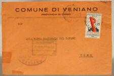 STORIA POSTALE REPUBBLICA 25 LIRE 30^ FIERA DI PADOVA 1952 #SP590